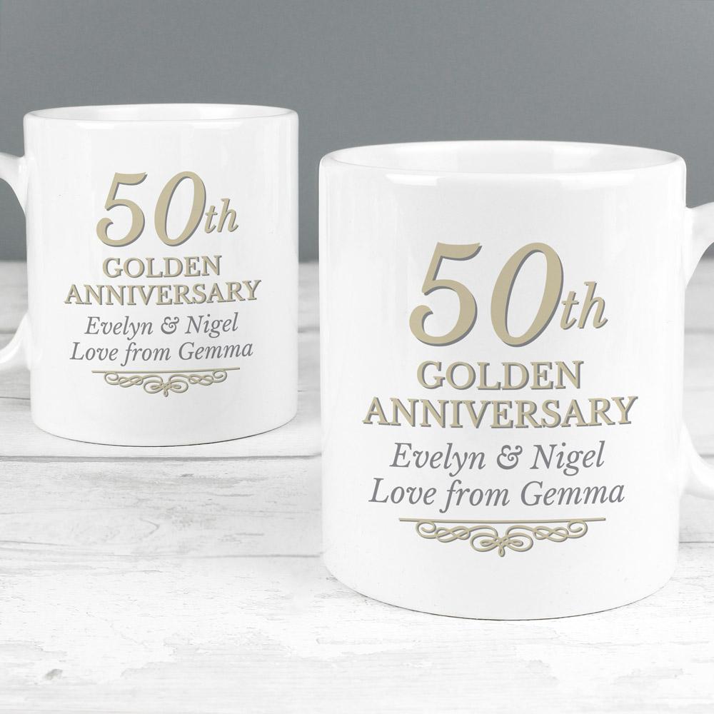 50th Golden Anniversary Mug Set