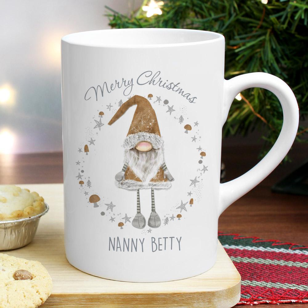 Scandinavian Christmas Gnome Slim Mug