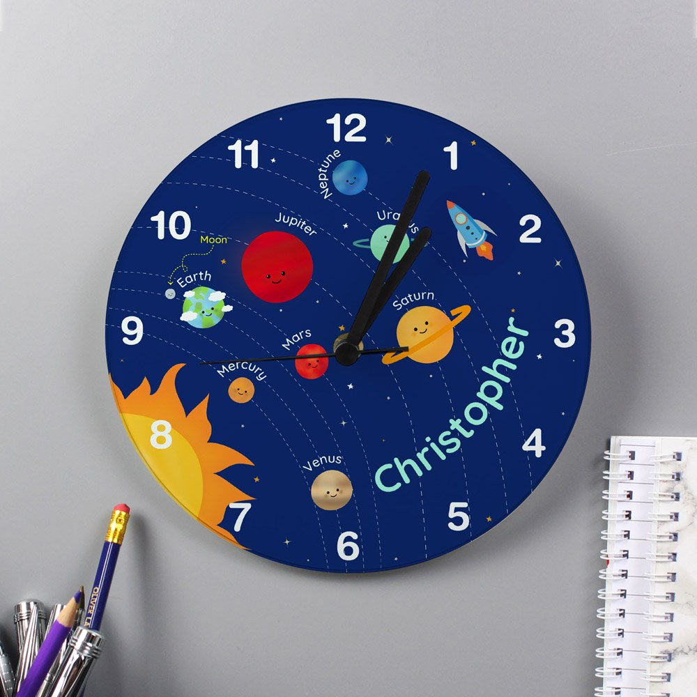 Solar Sytem Glass Clock