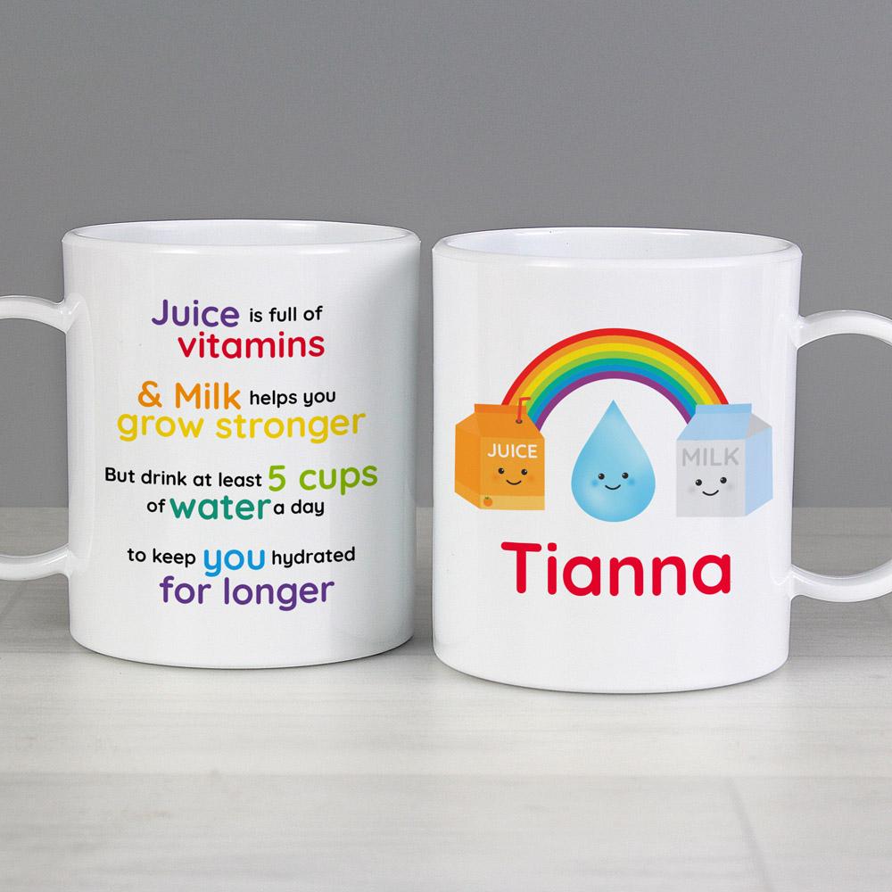 Healthy Eating Plastic Mug
