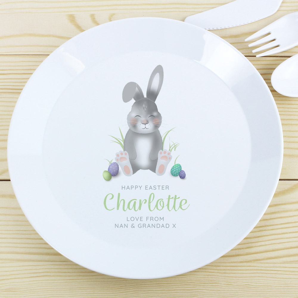 Easter Bunny Plastic Plate