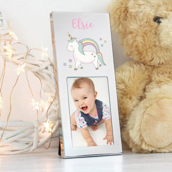 Baby Unicorn 2x3 aluminium photo frame