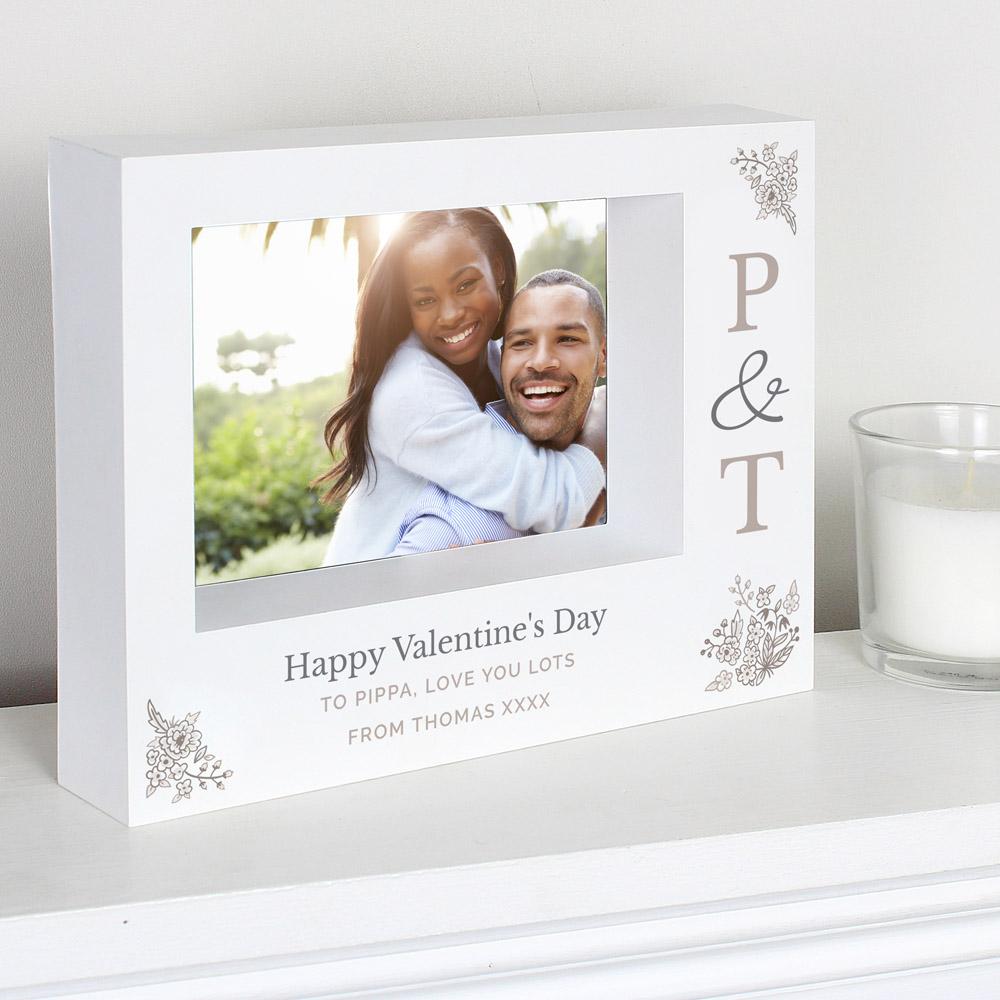 Couples Initials 7x5 Landscape Box Photo Frame