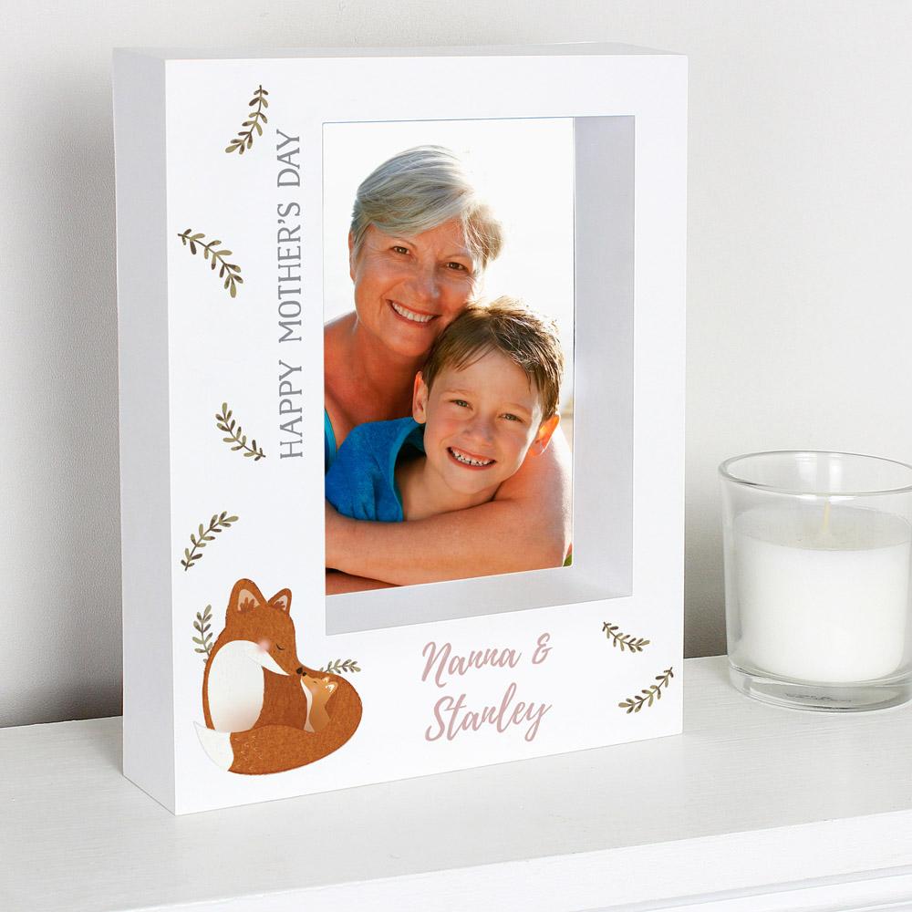Mummy and Me Fox 7x5 Box Photo Frame