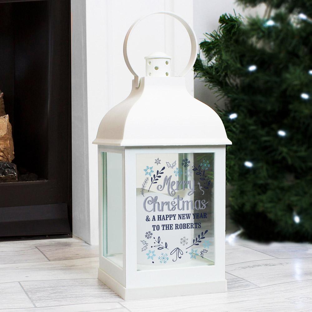 Christmas Frost White Lantern