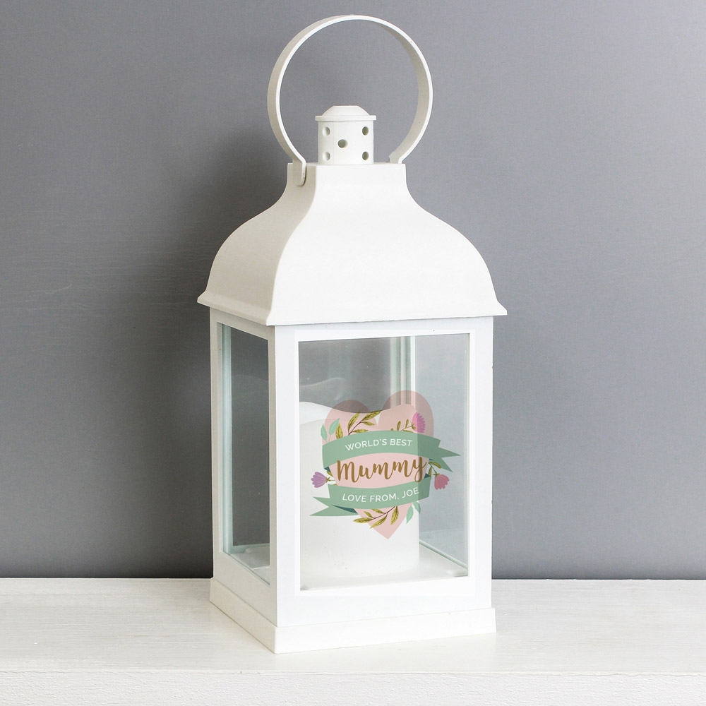 Floral Mother's Day White Lantern