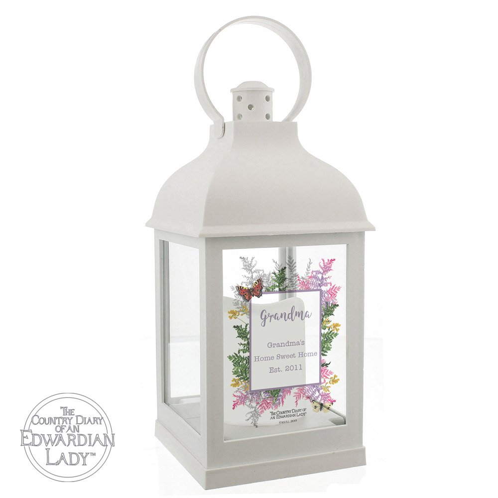 Country Diary Botanical White Lantern