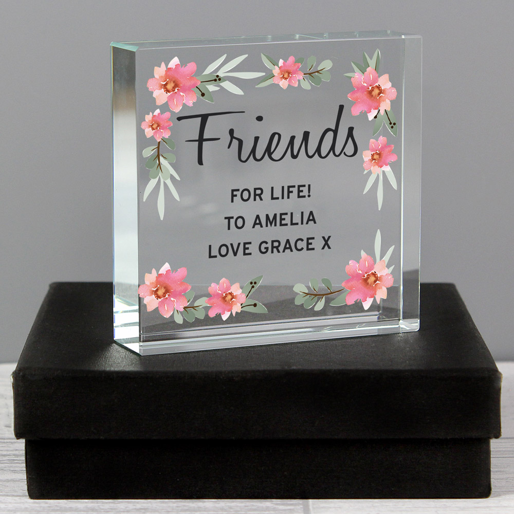 Floral Sentimental Large Crystal Token