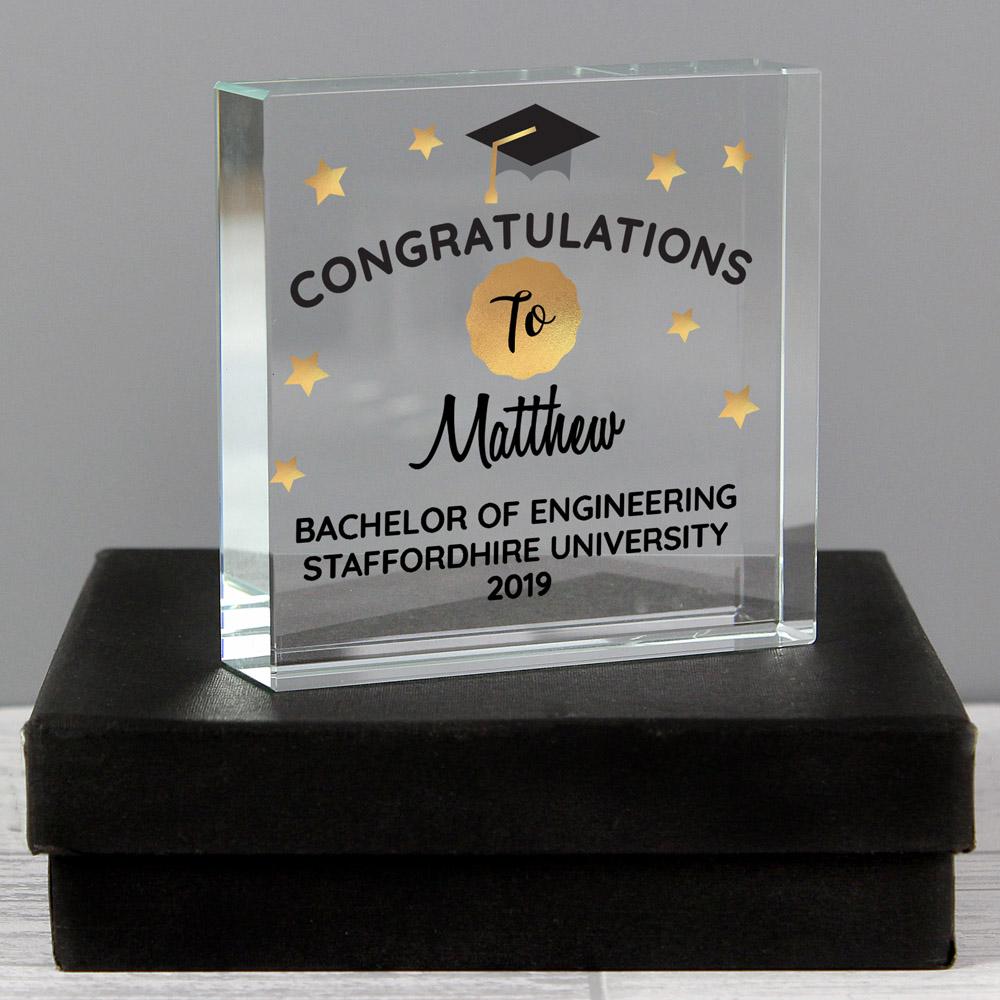 Congratulations Graduation Large Crystal Token