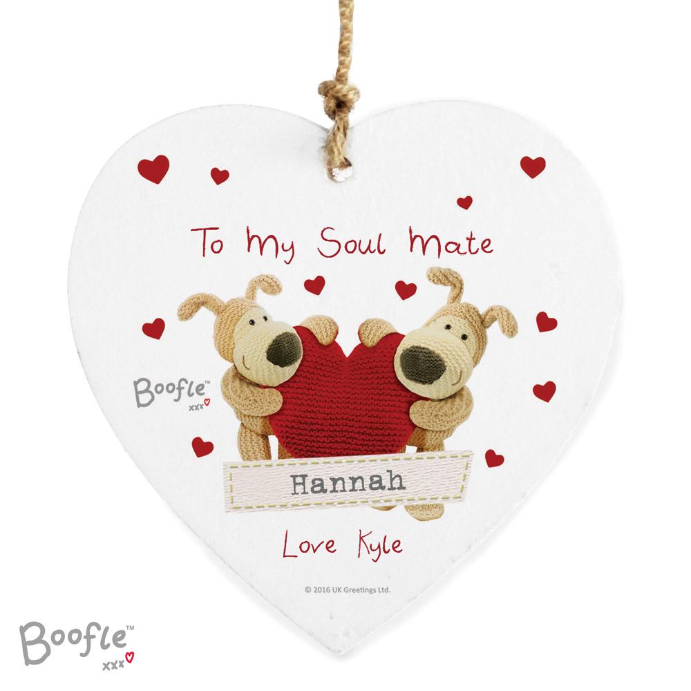 Boofle Shared Heart Wooden Heart Decoration