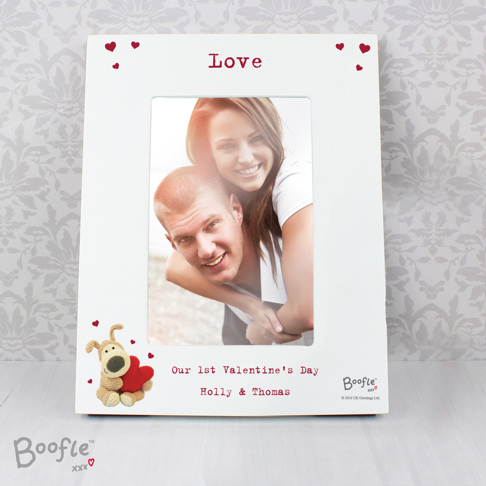 Boofle Shared Heart White 6x4 Photo Frame