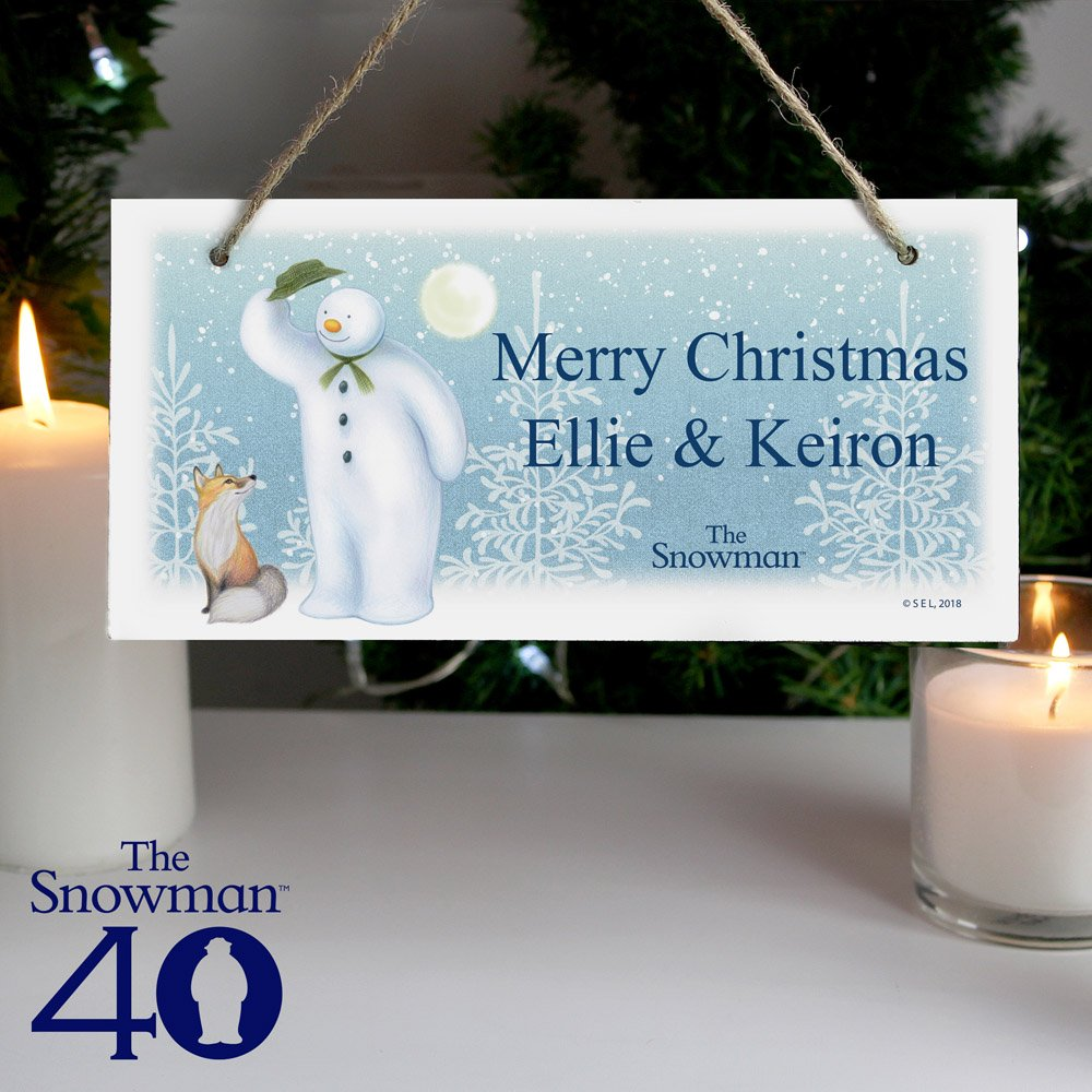 The Snowman Snow Wonder Wooden Sign