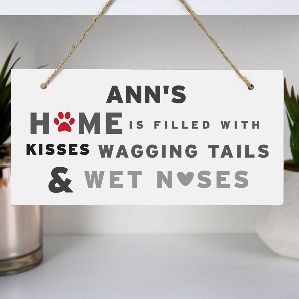 Wagging Tails' Dog Wooden Sign