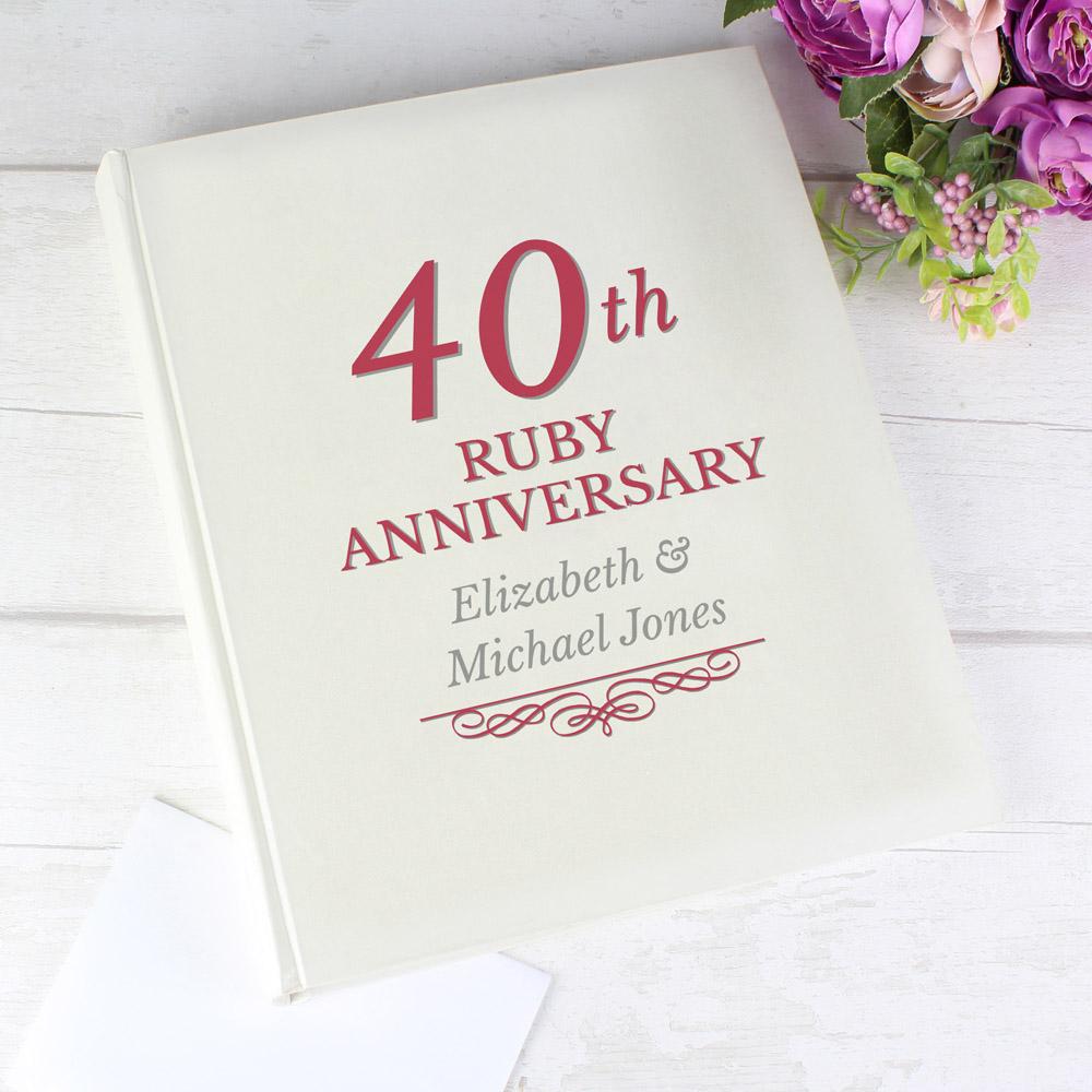 40th Ruby Anniversary Traditional Album