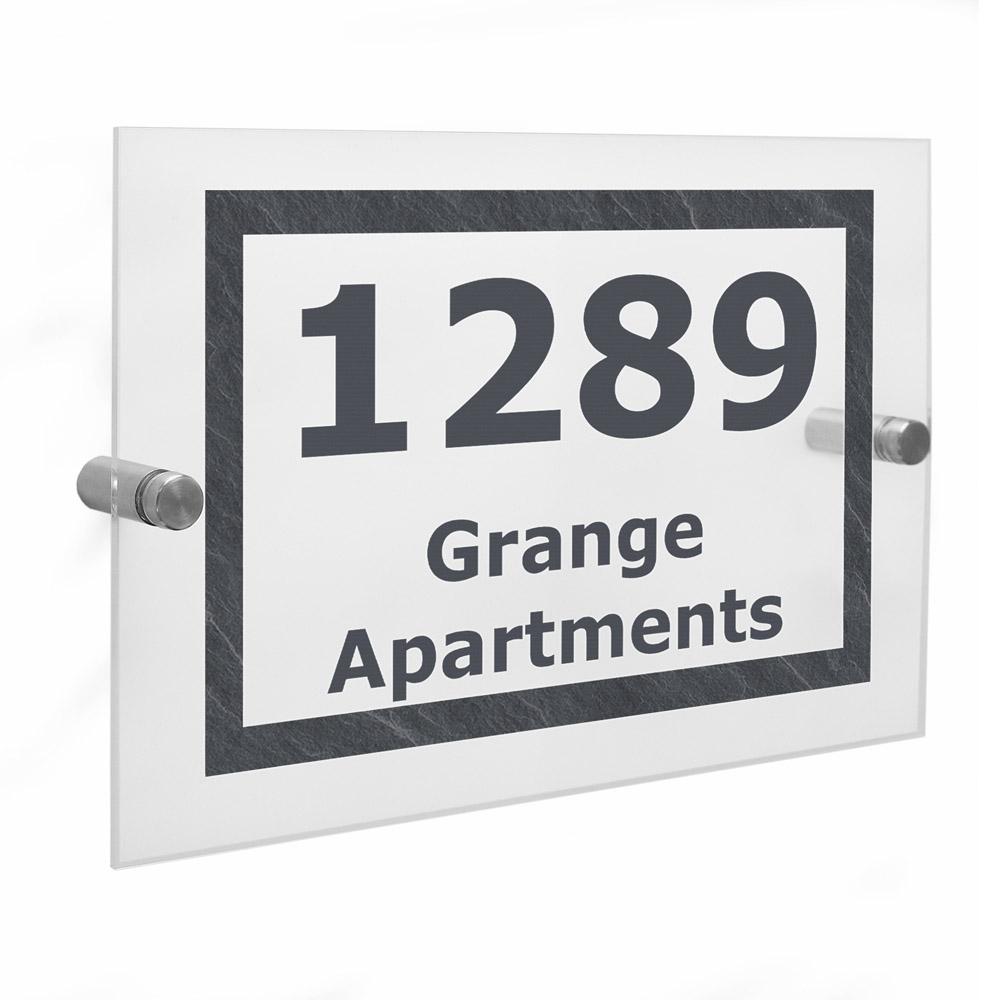 Marble Acrylic House Sign