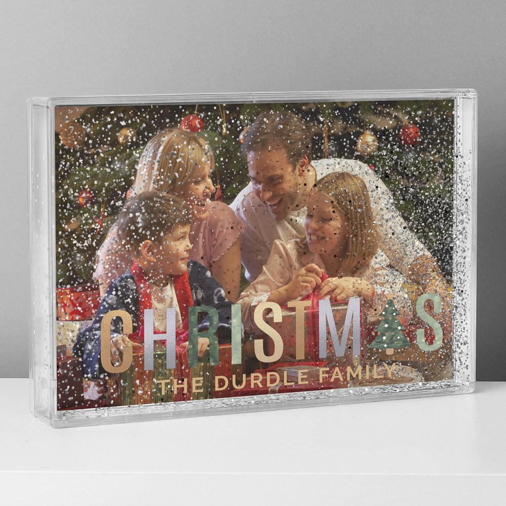 Christmas 6x4 Glitter Shaker Photo Frame
