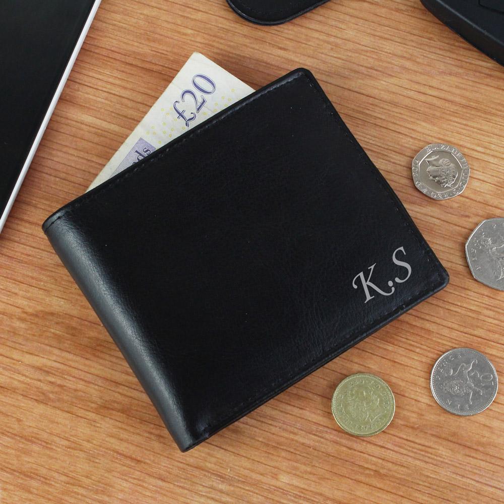 Script Font Leather Wallet