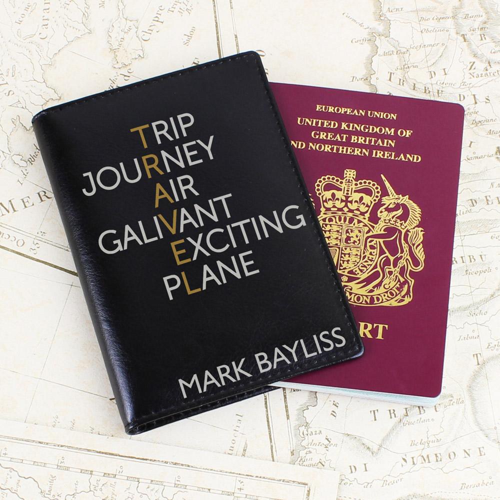 Travel Black Passport Holder