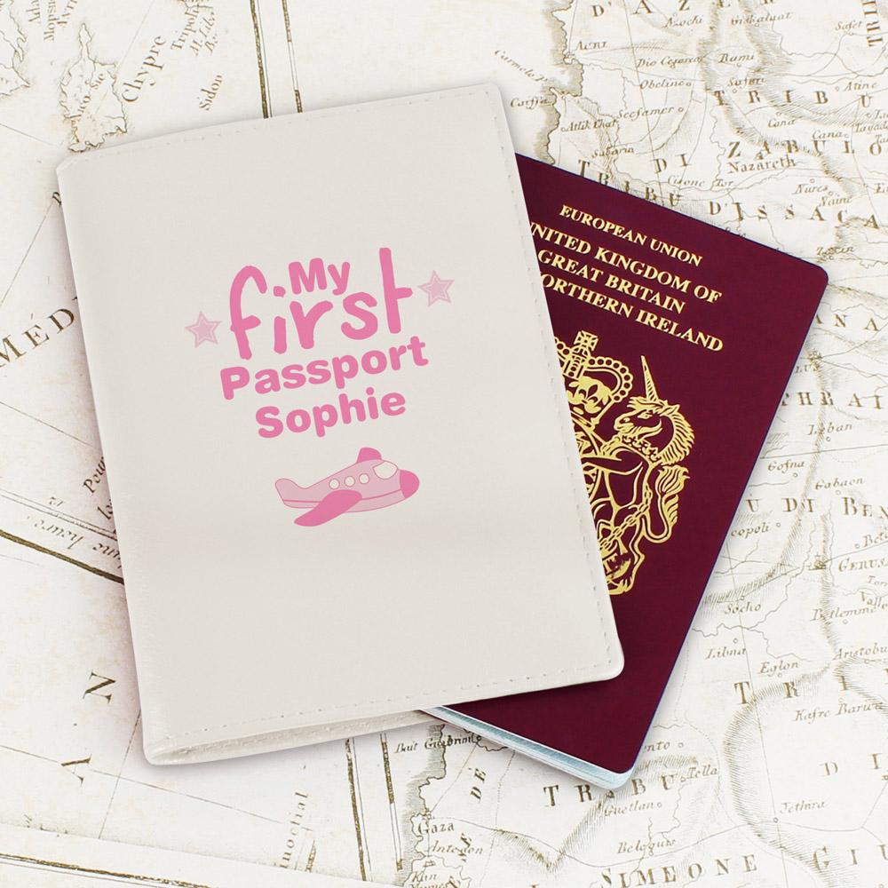 My First Cream Passport Holder