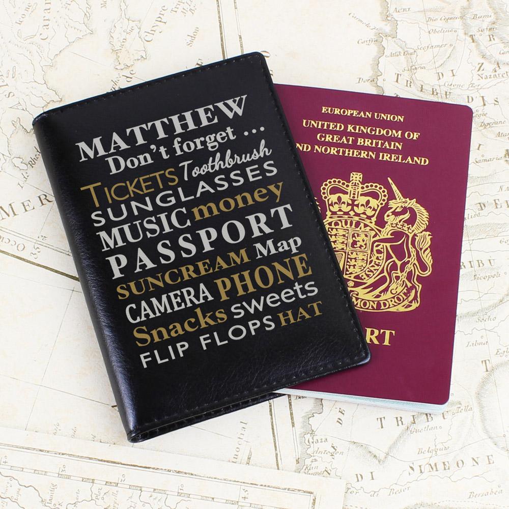 Dont Forget... Black Passport Holder