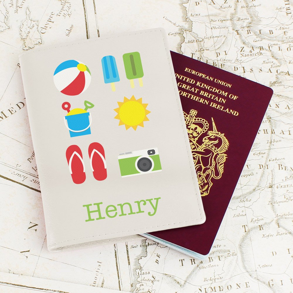 Bright Travel Cream Passport Holder