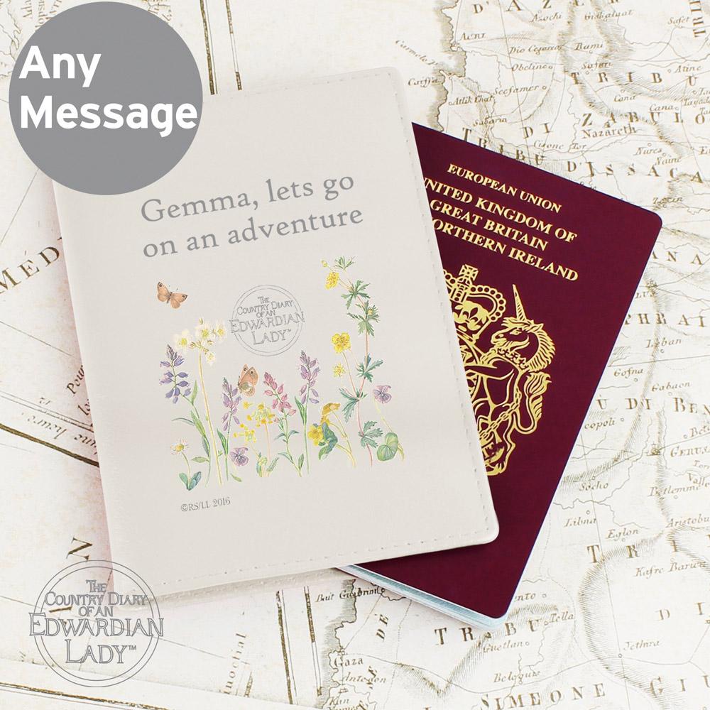 Country Diary Wild Flowers Cream Passport Holder