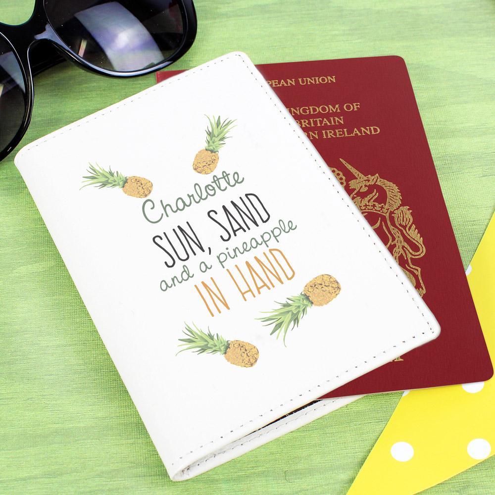 Pineapple Cream Passport Holder
