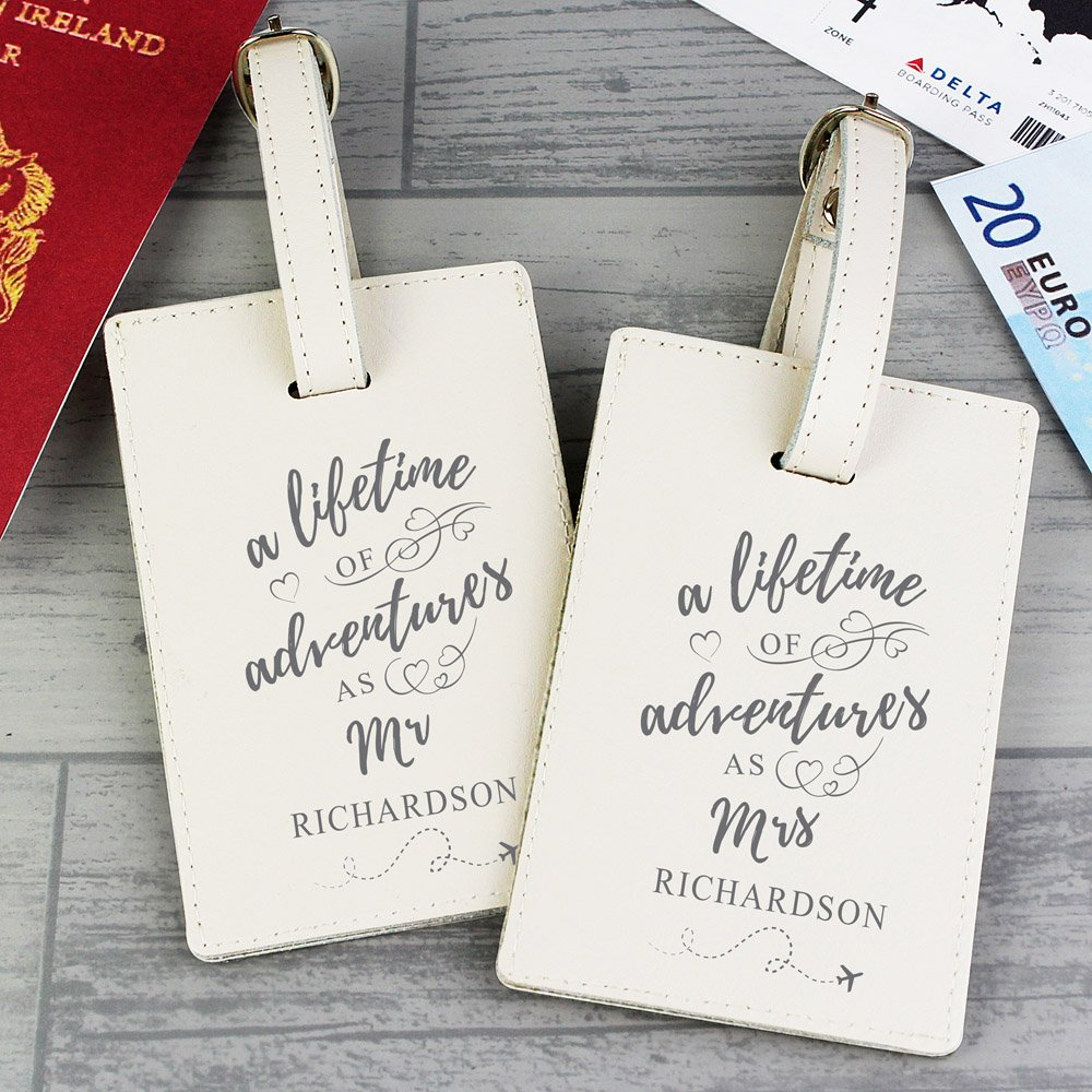 Lifetime of Adventures' Couples Luggage Tags