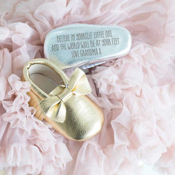 Personalised Baby Booties in Silver or Gold