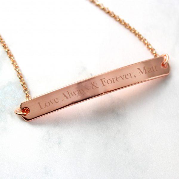 Rose Gold Tone Bar Bracelet