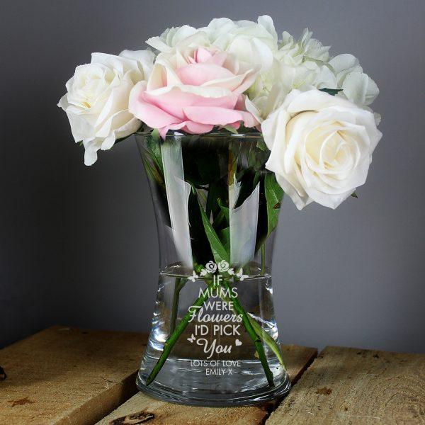 I'd Pick You Glass Vase