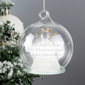 Christmas Message LED Angel Bauble
