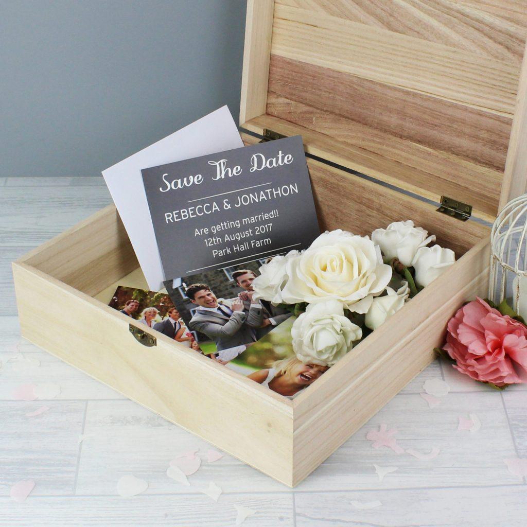 Floral Large Wooden Keepsake Box