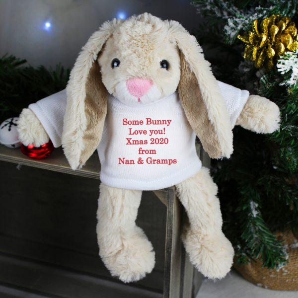 Christmas Bunny Soft Toy