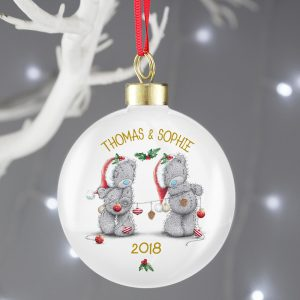 Personalised Me To You Couples Bauble