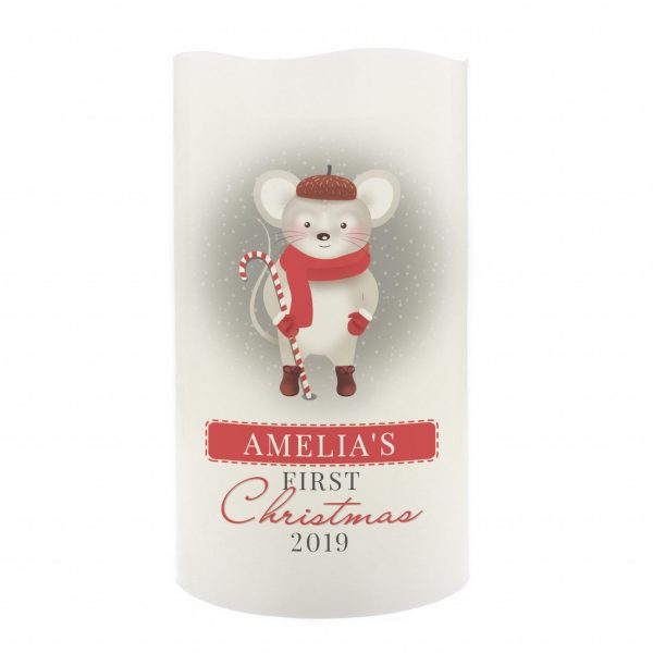 1st Christmas' Mouse Nightlight LED Candle