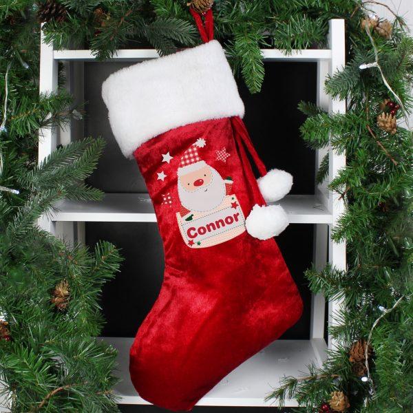 Pocket Santa Luxury Stocking