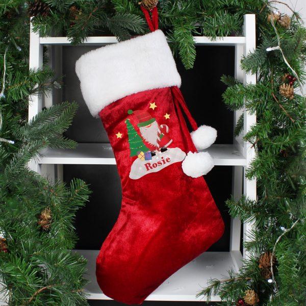 Tartan Santa Luxury Stocking