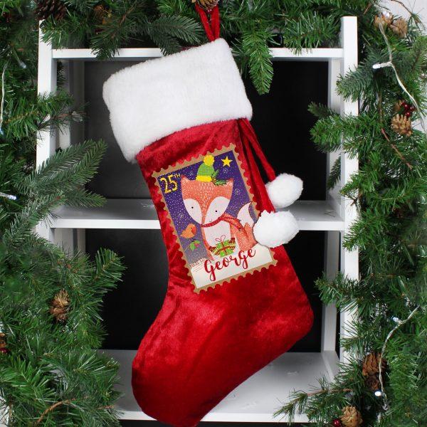 Festive Fox Luxury Stocking