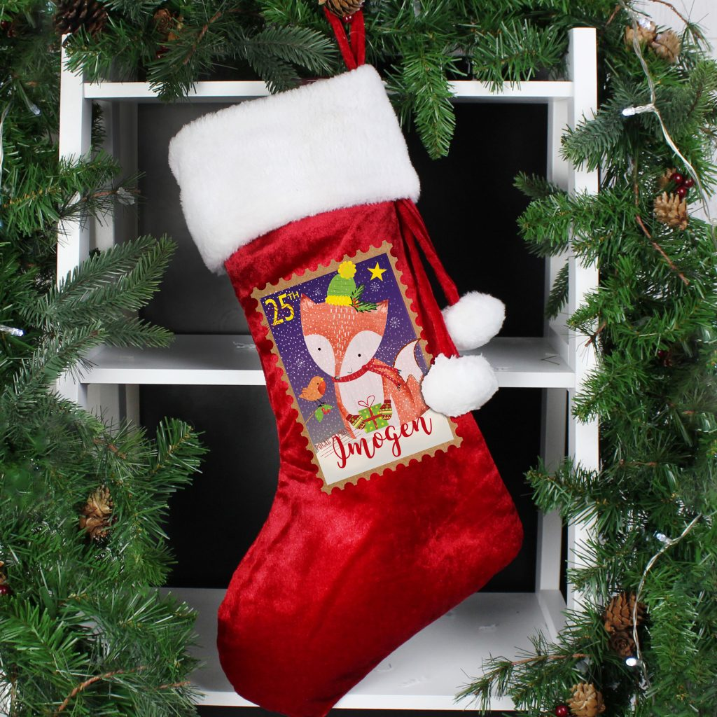 Festive Fox Luxury Stocking