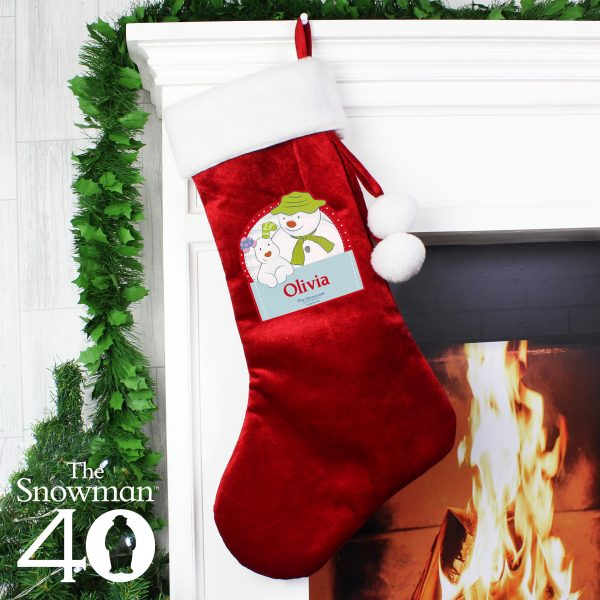 The Snowman and the Snowdog Luxury Stocking