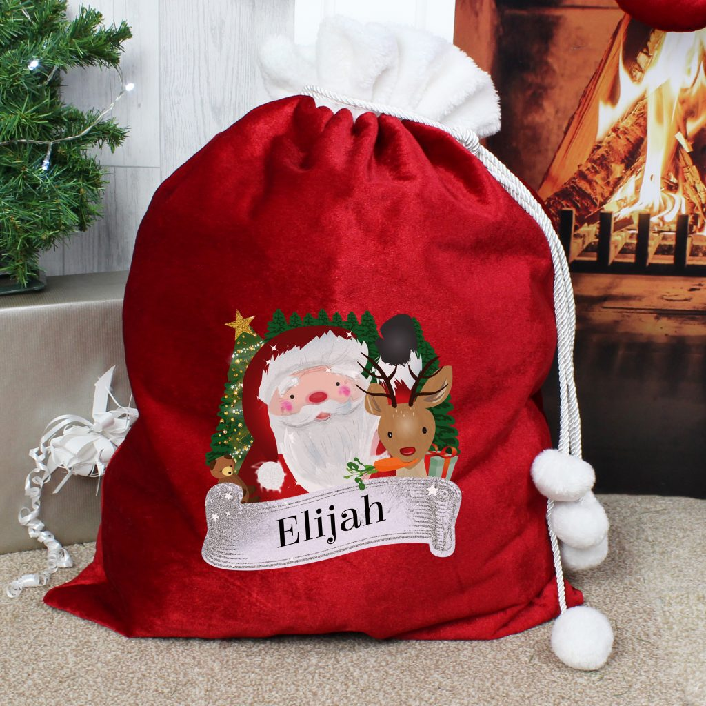 Red Christmas Santa Sack