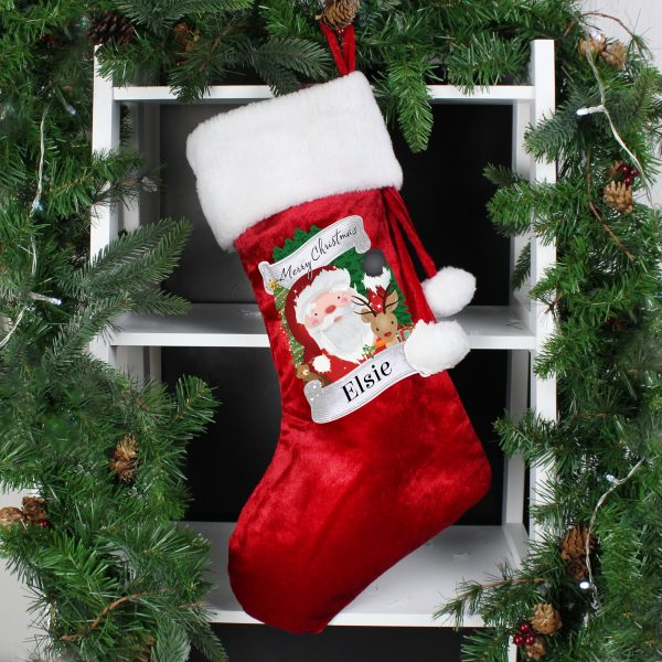 Red Christmas Santa Stocking