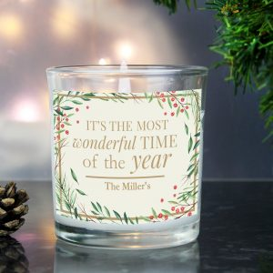 Wonderful Time of The Year' Christmas Scented Jar Candle
