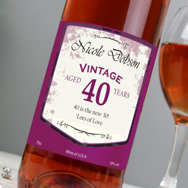 Rose Wine Vintage Age Label