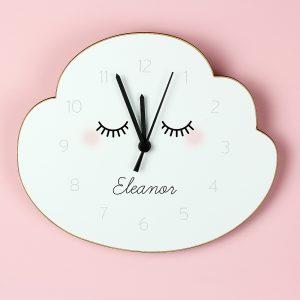 Eyelash Cloud Shape Wooden Clock