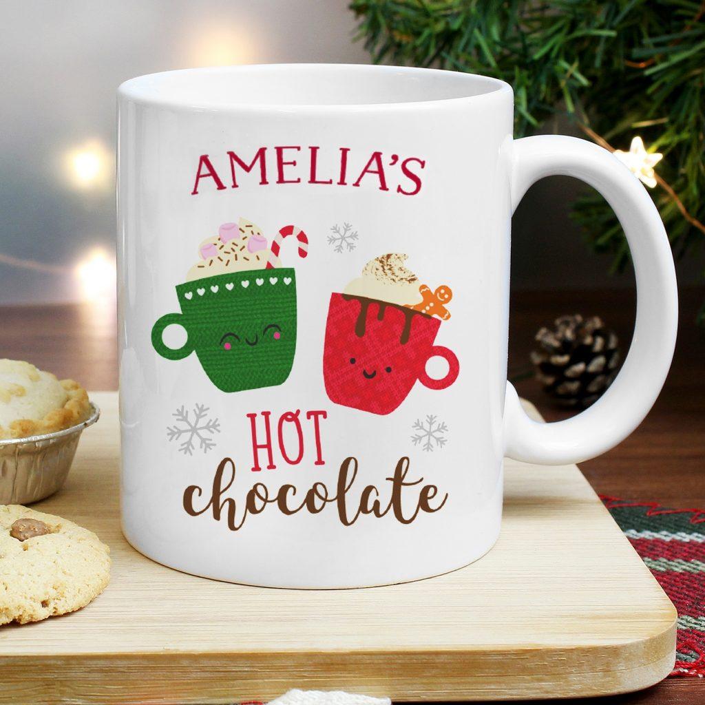 Cute Christmas Hot Chocolate Mug