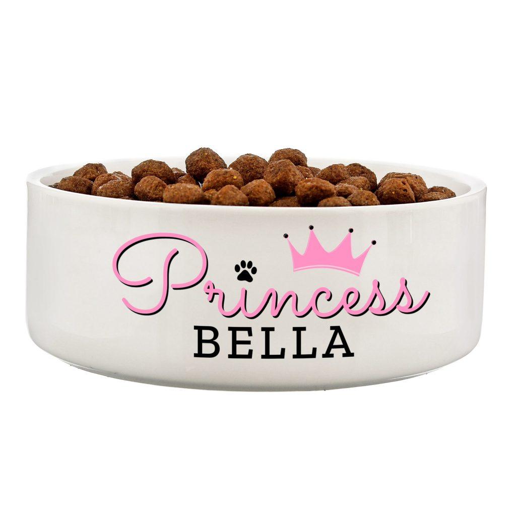 Princess' 14cm Medium Ceramic White Pet Bowl