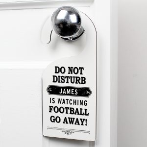 Black 'Do Not Disturb' Door Hanger