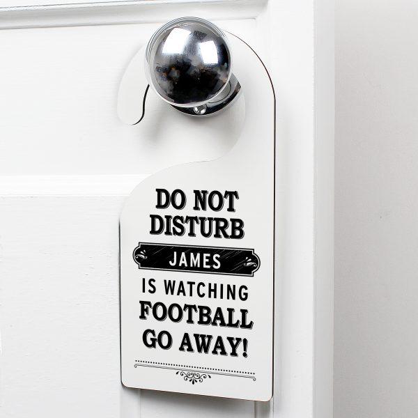 Black 'Do Not Disturb' Door Hanger